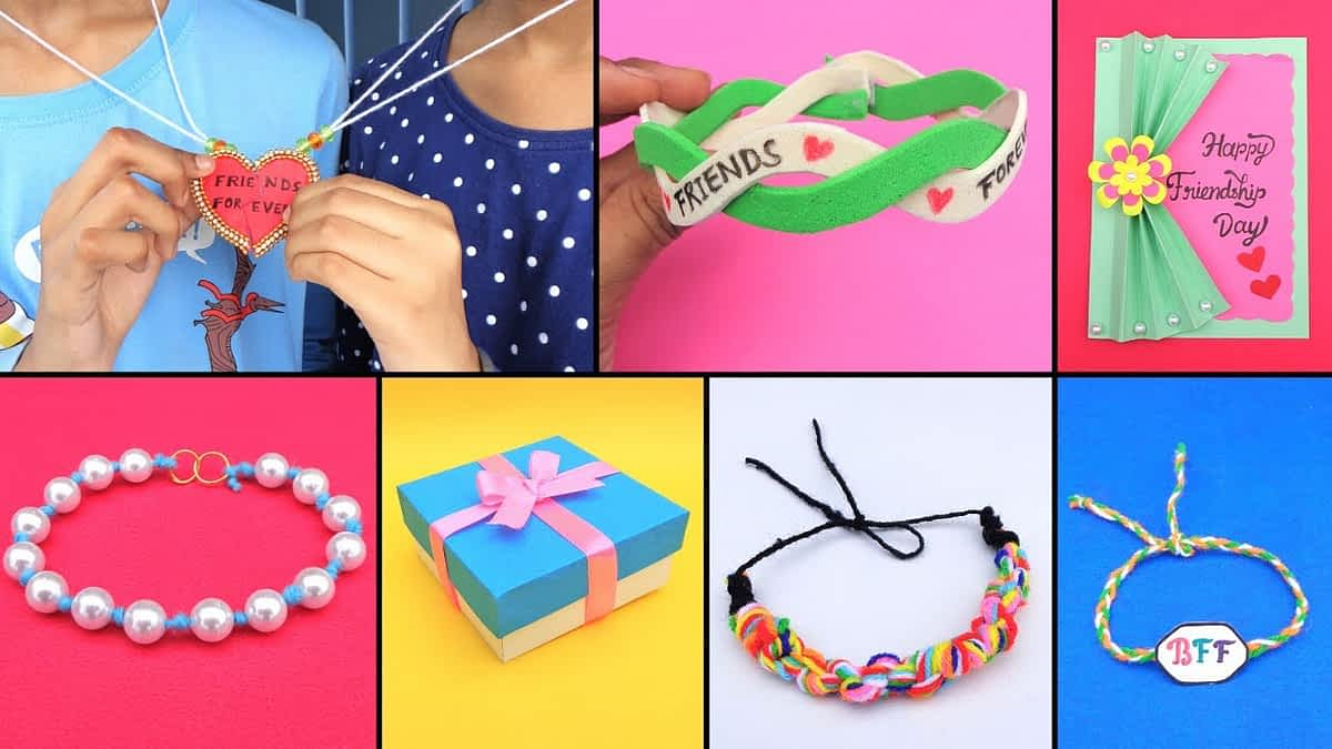 DIY 7 Easy Friendship Bracelets & Gifts ideas/Friendship bands & gifts making for beginners