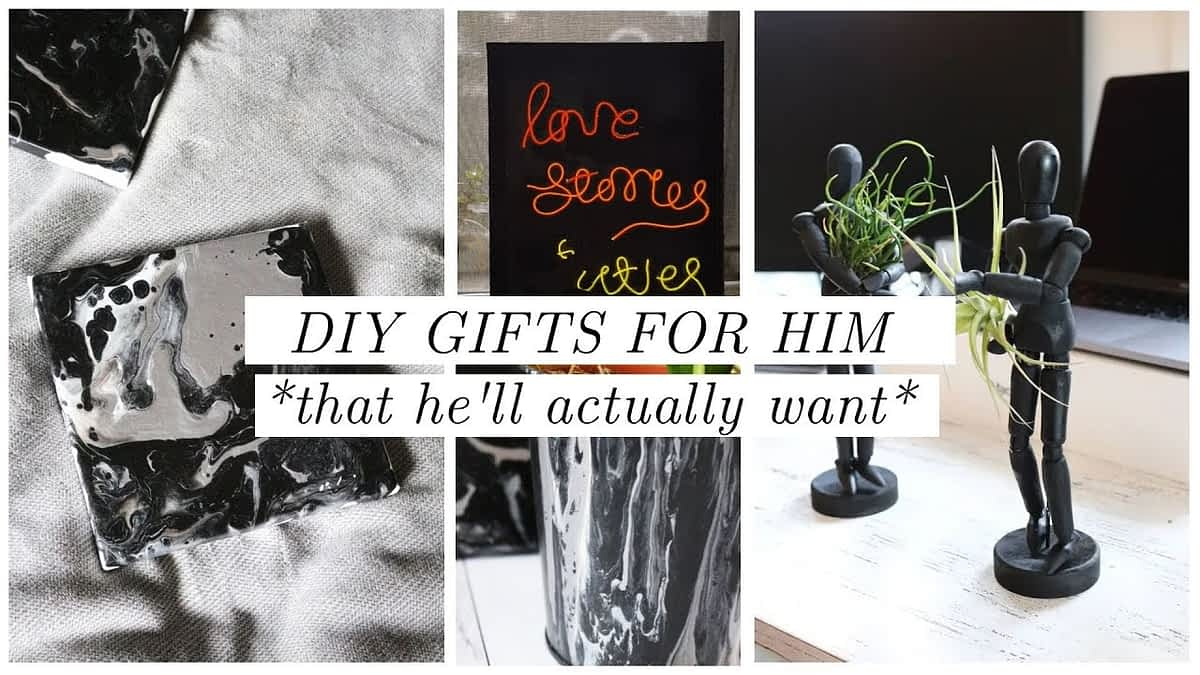 DIY gifts for him he'll ACTUALLY like - diy'ing my boyfriend's birthday - neon sign, planters, etc!